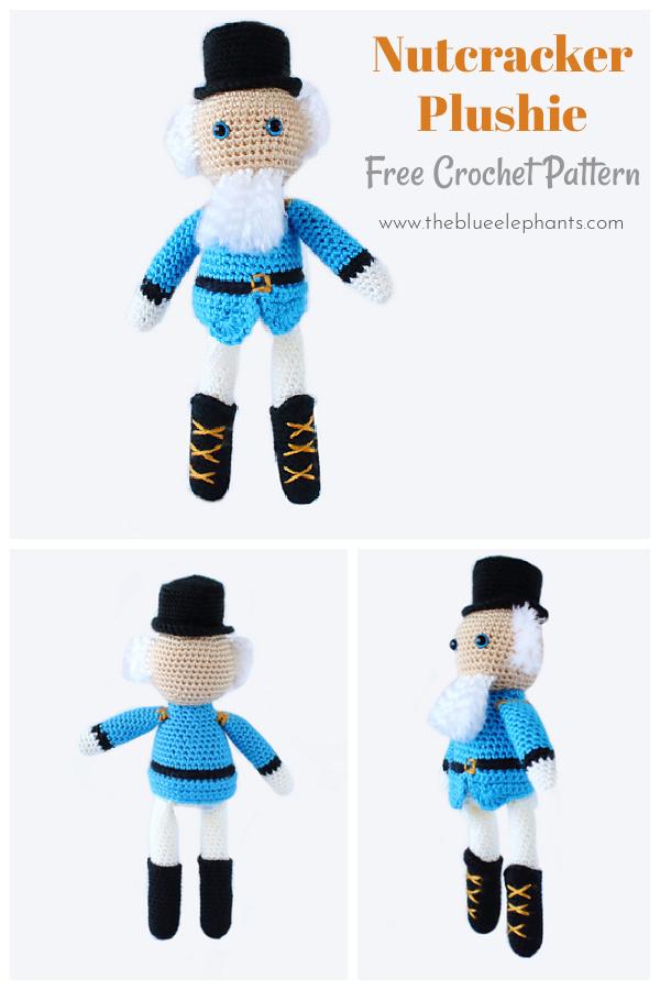 Nutcracker Plushie Free Crochet Pattern