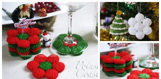 Poinsettia Coasters or Ornament Free Crochet Pattern