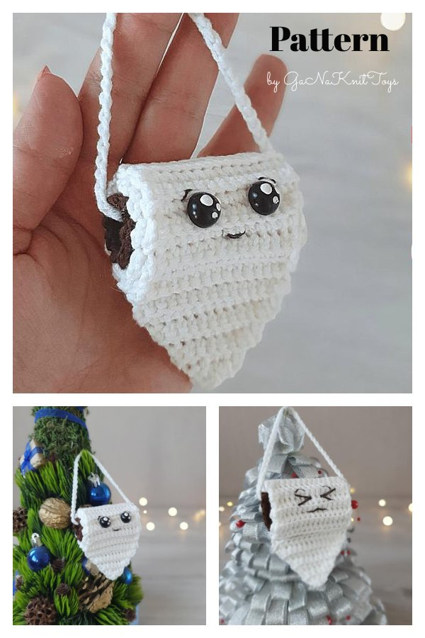 Primitive Toilet Roll Christmas Ornament Crochet Pattern