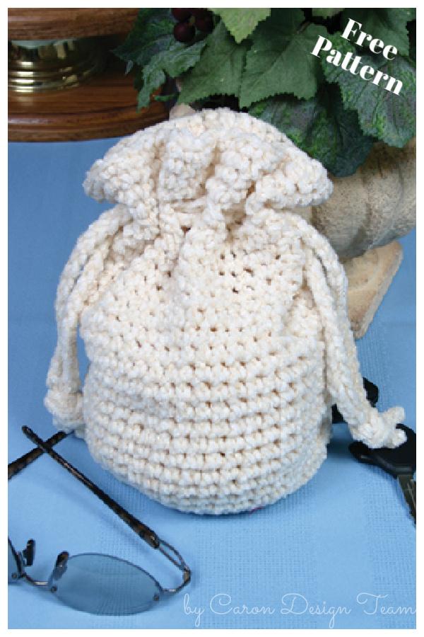 Round Base Drawstring Bag Free Crochet Pattern