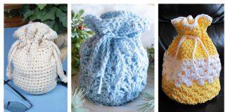 Round Base Gift Bag Free Crochet Patterns