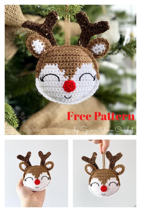 Rudolph Ornament Free Crochet Pattern