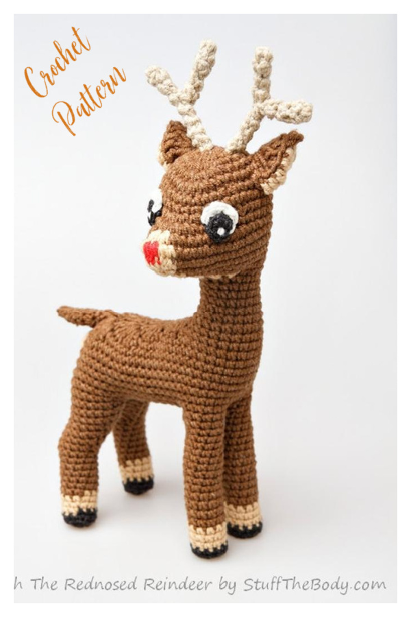 Rudolph The Red-Nosed Reindeer Crochet Pattern