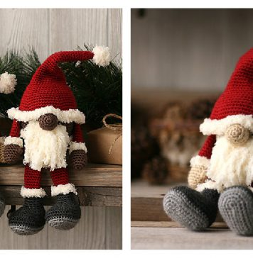 Santa Gnome Free Crochet Pattern
