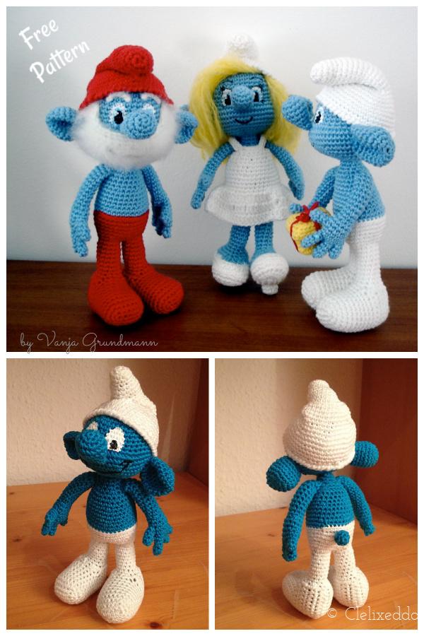 Smurfs Free Crochet Pattern