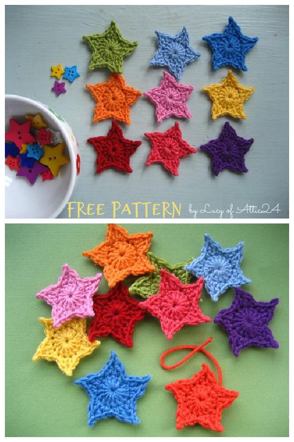 Teeny Tiny Stars Free Crochet Pattern