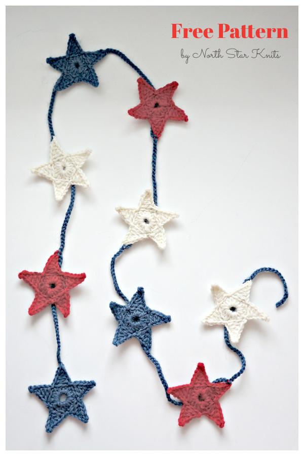 The Mini Star Garland Free Crochet Pattern