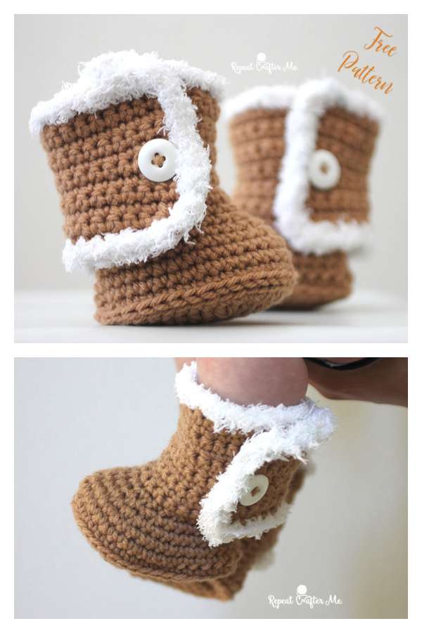 Ugg Style Baby Booties Free Crochet Pattern
