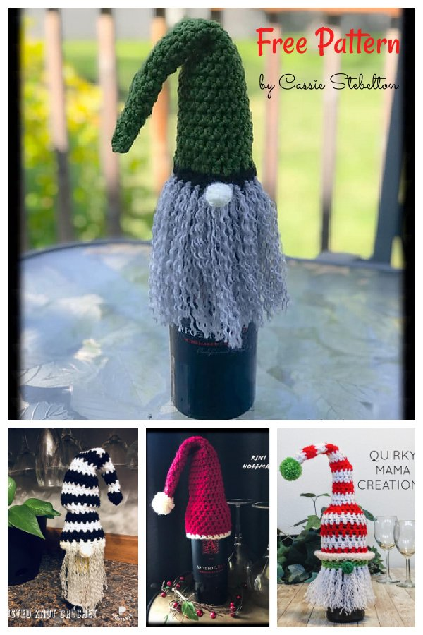 Wine Bottle Topper Free Crochet Pattern