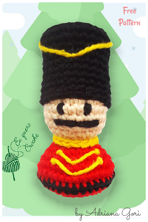 Xmas Ornaments Nutcracker Free Crochet Pattern