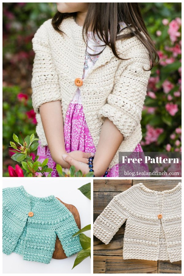 Baby and Toddler Cardigan Free Crochet Pattern