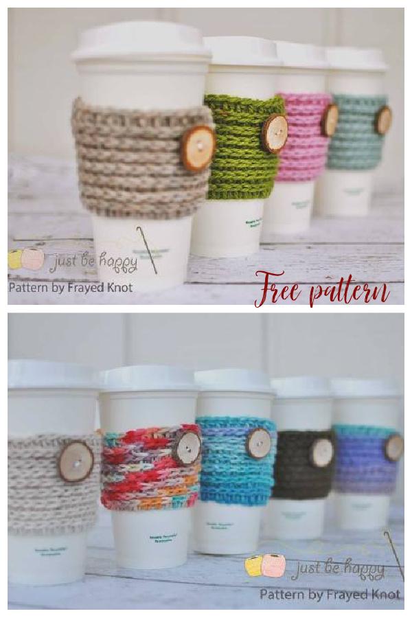 15 min Coffee Sleeve Free Crochet Pattern