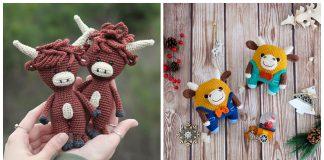 Adorable Amigurumi Bull Crochet Patterns