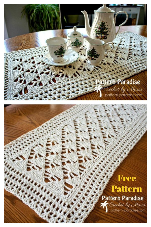Alpine Table Runner Free Crochet Pattern