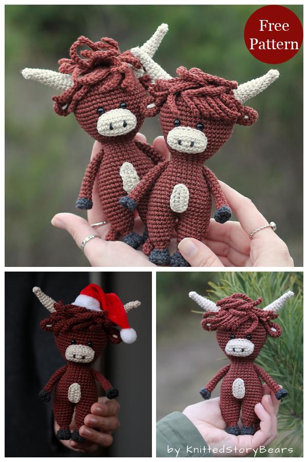 Amigurumi Bull Free Crochet Pattern
