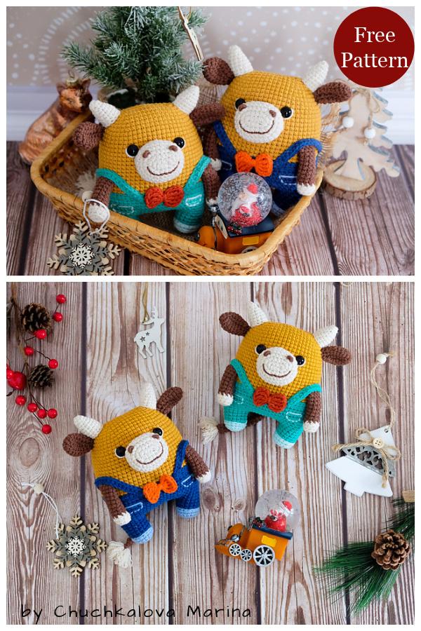 Amigurumi Fofo the Bull Free Crochet Pattern