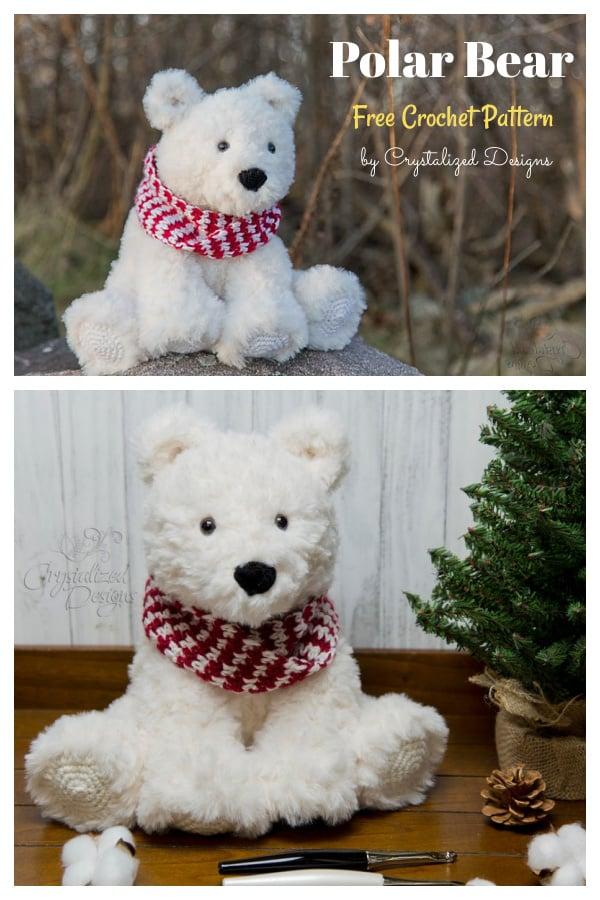 Amigurumi Peppermint the Polar Bear Free Crochet Pattern