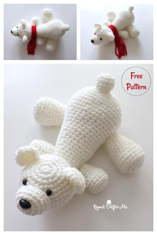 Amigurumi Polar Bear Buddy Free Crochet Pattern