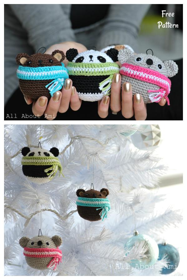 Amigurumi Teddy Ornaments Free Crochet Pattern