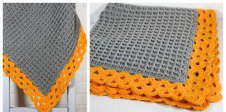 Arcade Waffle Blanket Free Crochet Pattern
