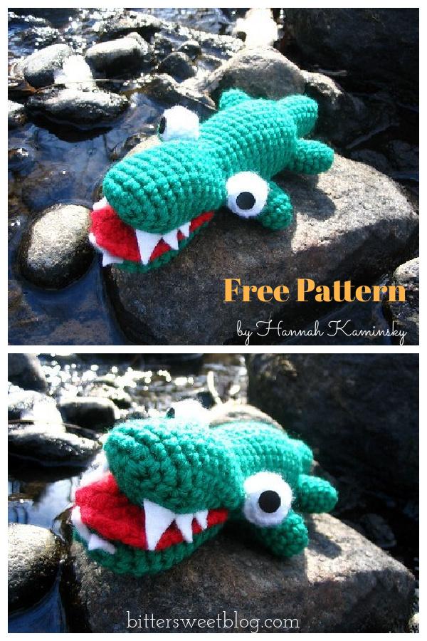 Baby Alligator Amigurumi Free Crochet Pattern
