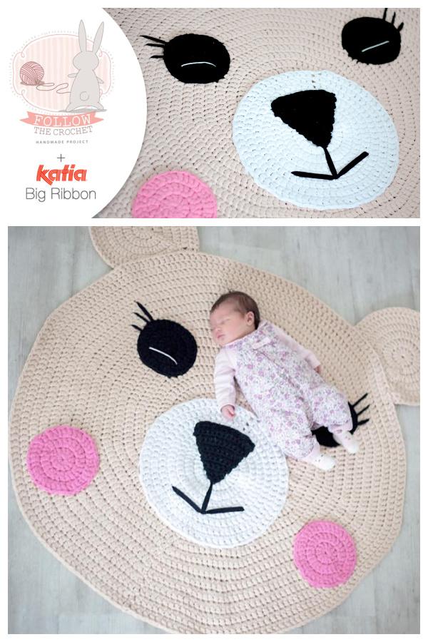 Bear Rug Free Crochet Pattern