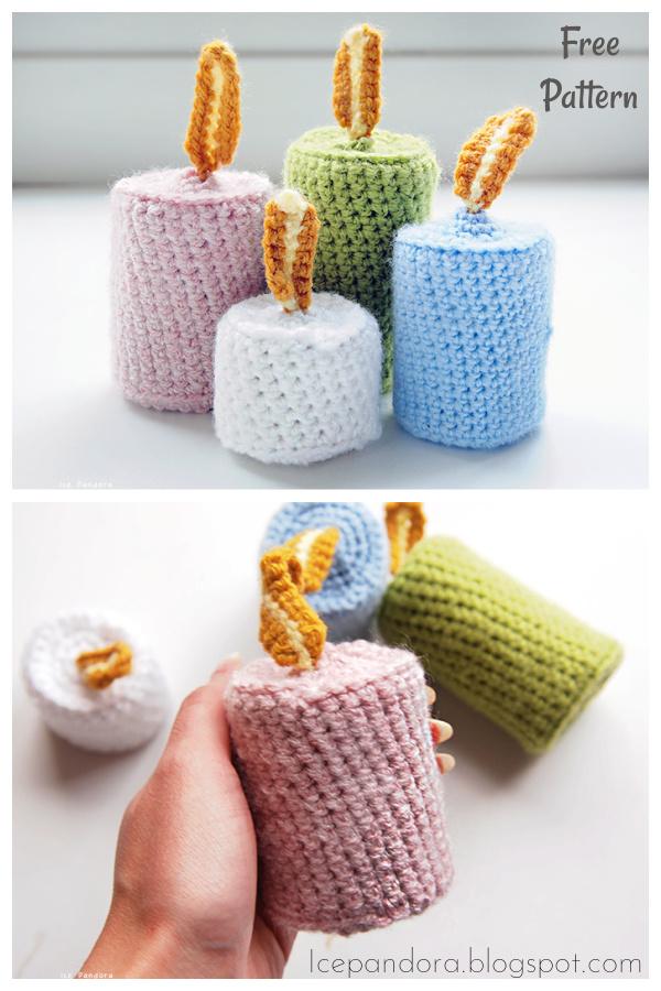Candle Free Crochet Pattern