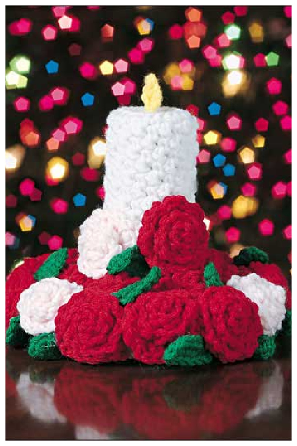 Candle & Roses Centerpiece Free Crochet Pattern
