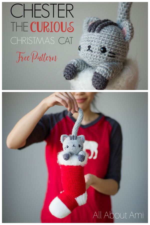 Chester the Christmas Cat Free Crochet Pattern