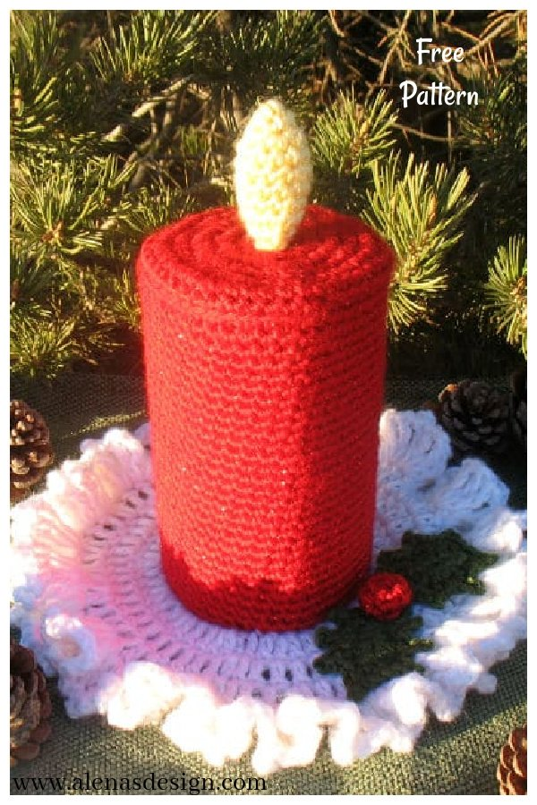 Christmas Candle Free Crochet Pattern