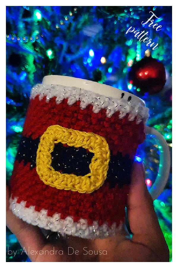 Christmas Cosy Mug Free Crochet Pattern
