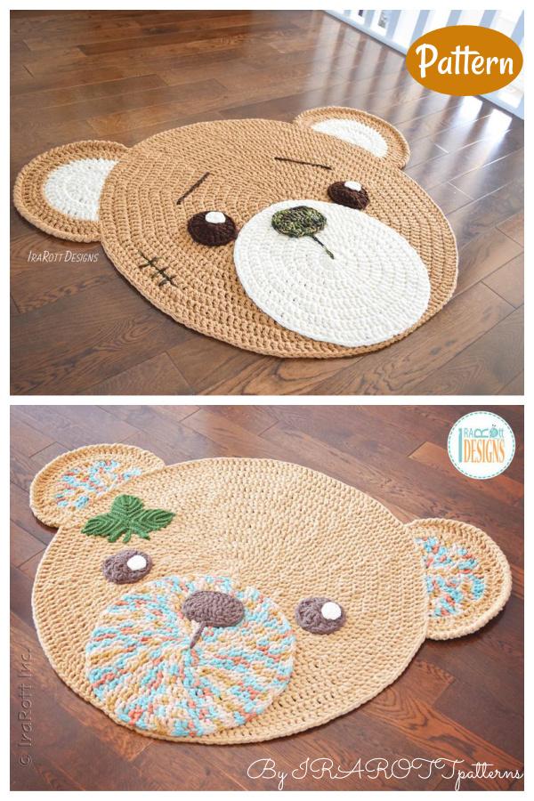 Classic Teddy Bear Rug Crochet Pattern