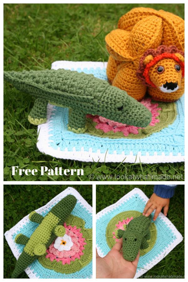 Colin the Crocodile Amigurumi Free Crochet Pattern