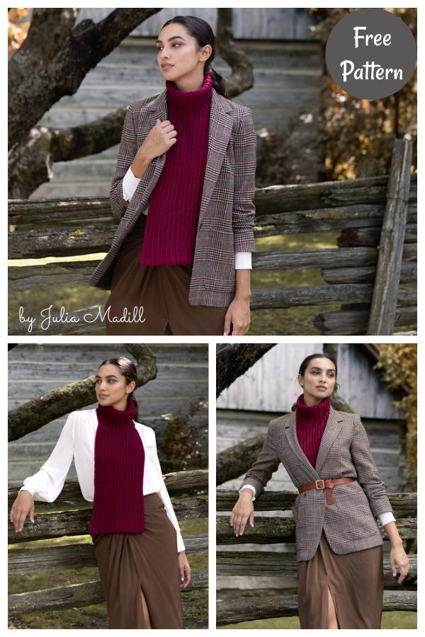 Corrugated Collar Scarf Free Crochet Pattern