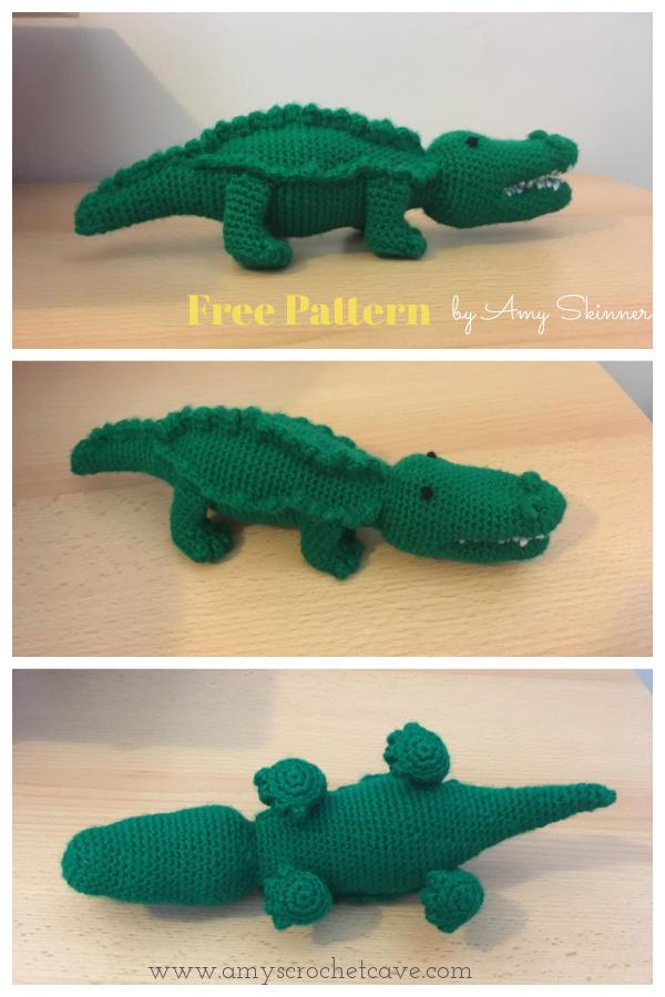 Crocodile Amigurumi Free Crochet Pattern