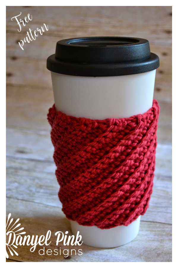 Crooked Coffee Cozy Free Crochet Pattern