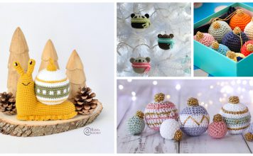 Cute Christmas Bauble Free Crochet Pattern