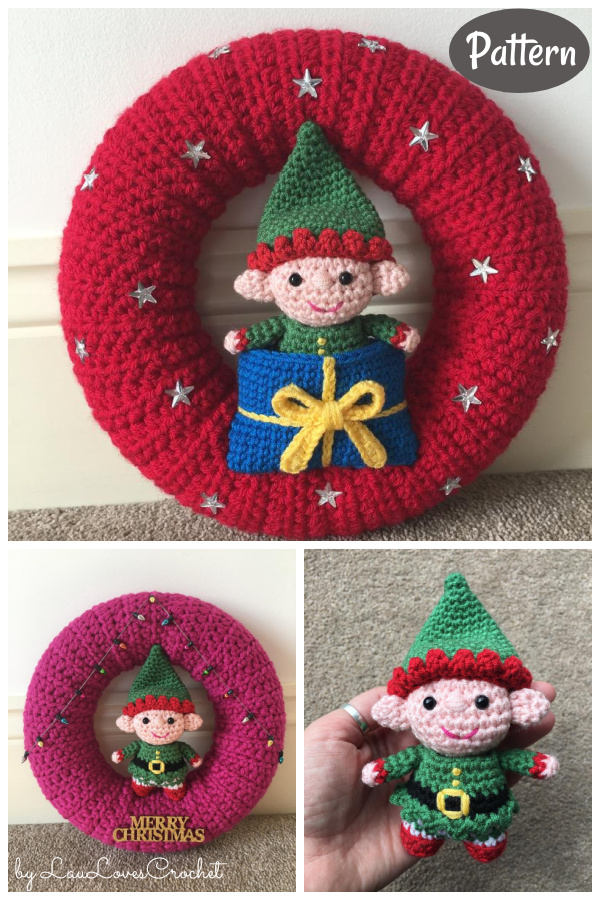 Elf Christmas Wreath Crochet Pattern