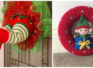 Elf Christmas Wreath Crochet Patterns