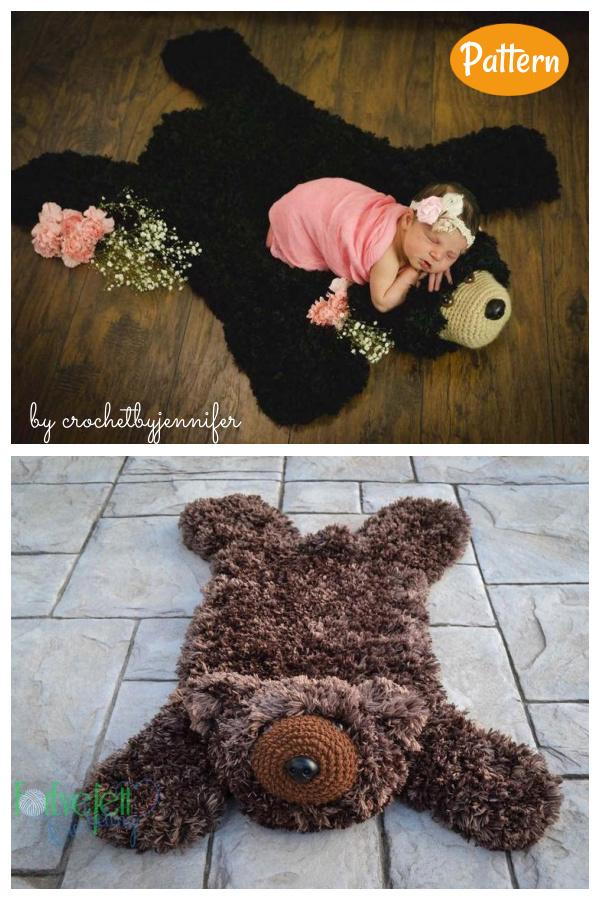 Faux Bear Skin Nursery Rug Crochet Pattern