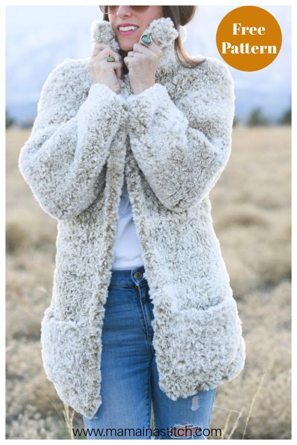 Faux Fur Coat Free Crochet Pattern