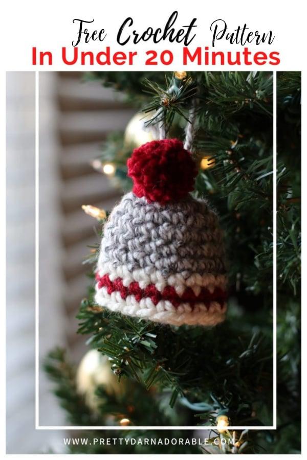 Hat Christmas Ornament Free Crochet Pattern