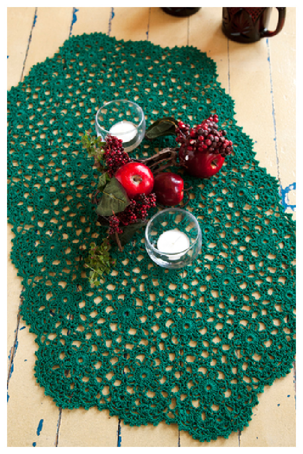 Holiday or Any Day Table Runner Free Crochet Pattern