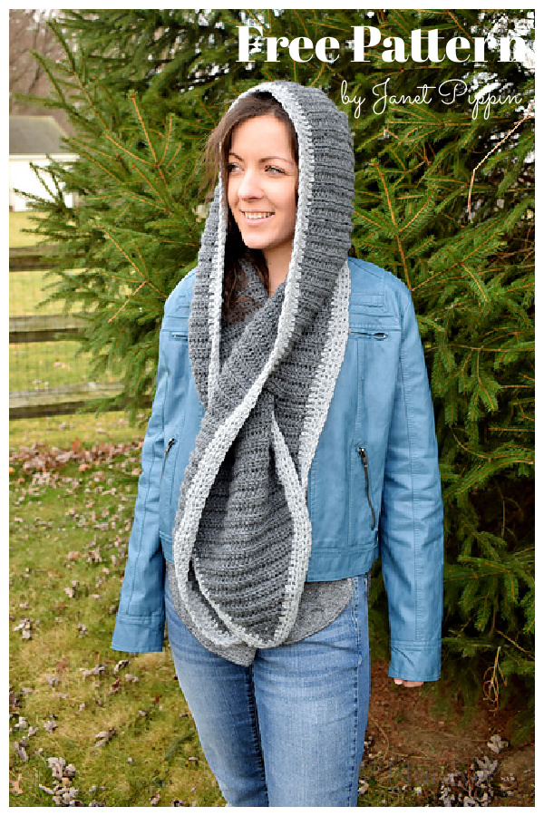 Hooded Keyhole Scarf Free Crochet Pattern