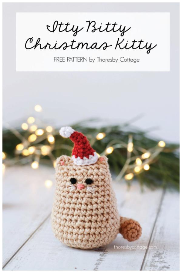 Itty Bitty Kitty Christmas Cat Free Crochet Pattern