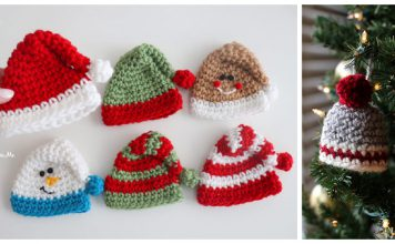 Mini Holiday Hats Free Crochet Pattern