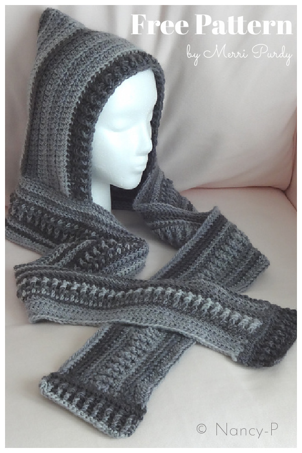 Mother-Hood Hooded Scarf Free Crochet Pattern