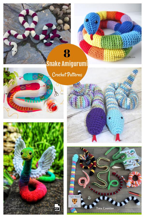 8 Snake Amigurumi Crochet Patterns