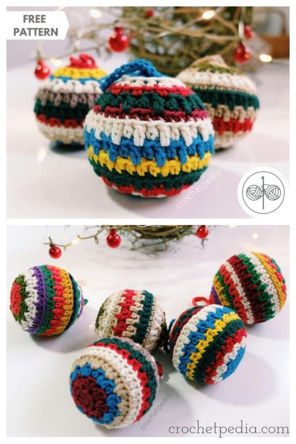 Soft Christmas Baubles Free Crochet Pattern