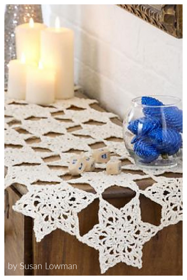 Star Table Runner Free Crochet Pattern